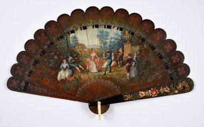 Cadeau d'amitié, vers 1870-1880 Éventail...