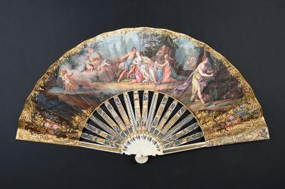 Les amours de Flore, vers 1830-1840 Éventail...