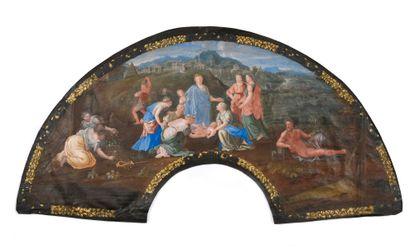 Moïse sauvé des eaux, vers 1700 Feuille d'éventail...