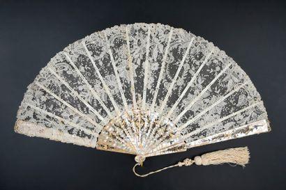 Luxuriance, vers 1890 Éventail, la feuille...