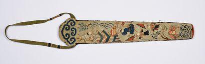 Deux étuis à éventails, Chine, XIXe siècle...