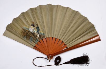 Thermomètre, vers 1880-1890 Rare éventail...