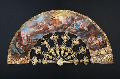 Les dieux de l'Olympe, vers 1740-1750 Éventail...