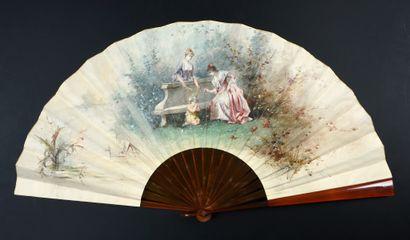Le bonnet d'âne, vers 1890-1900 Grand éventail,...