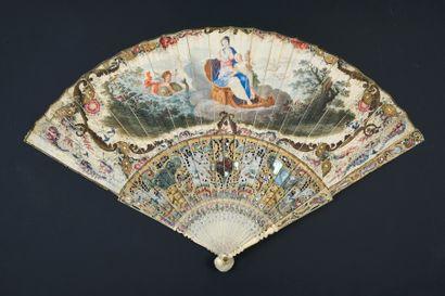 Les jeux de Vénus et Cupidon, vers 1730 Éventail...