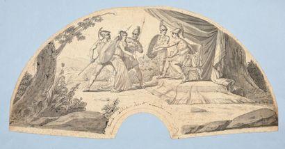 La courageuse Timoclée devant Alexandre,...