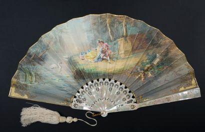 Musique au cœur, vers 1890-1900 Éventail...