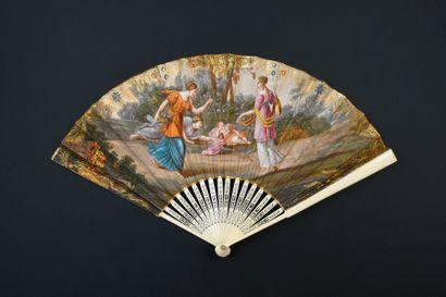 Le sommeil de l'Amour, vers 1800 Éventail...