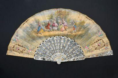 La guirlande du galant, vers 1840-1850 Éventail...