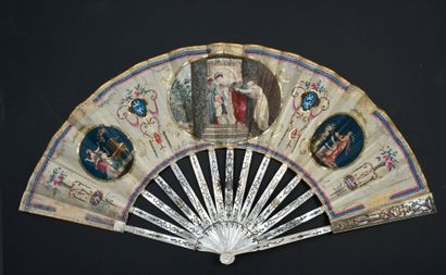 Piété familiale, vers 1780-1790 Éventail...