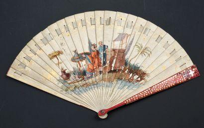 L'heure du thé, vers 1810-1820 Éventail de...