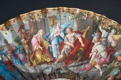 La continence de Scipion, vers 1730 Éventail...