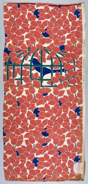Toile imprimée, dessin de Francis Jourdain,...