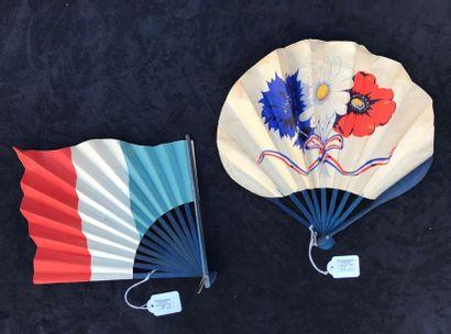 La Gloire des Alliés - Deux éventails patriotiques,...