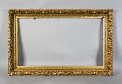 Cadre en bois doré dit Barbizon. Epoque Napoléon...