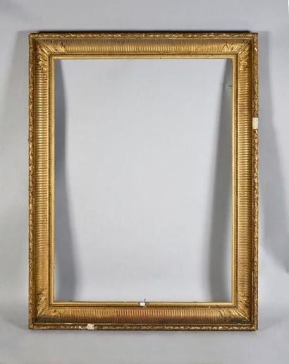 Large cadre dit «à canaux», XIXe siècle....
