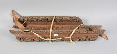 Cadre en bois naturel à profil renversé à...
