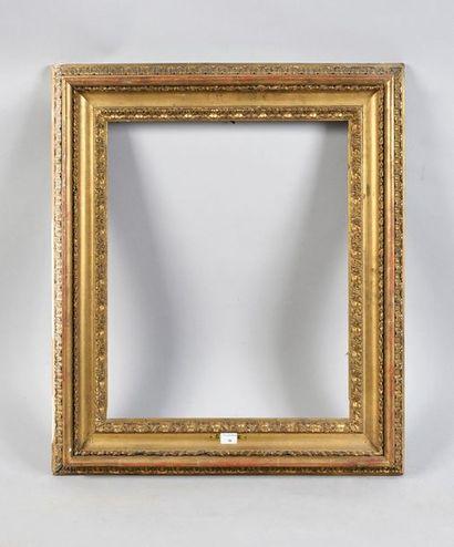 Cadre en tilleul sculpté dit «Carlo Maratta». Italie, fin du XVIIIe siècle (modifié...