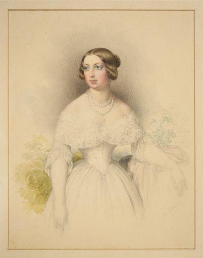 NEPOMUK ENDER Johann (1793-1854). Portrait de la princesse Louise d'Artois, future...