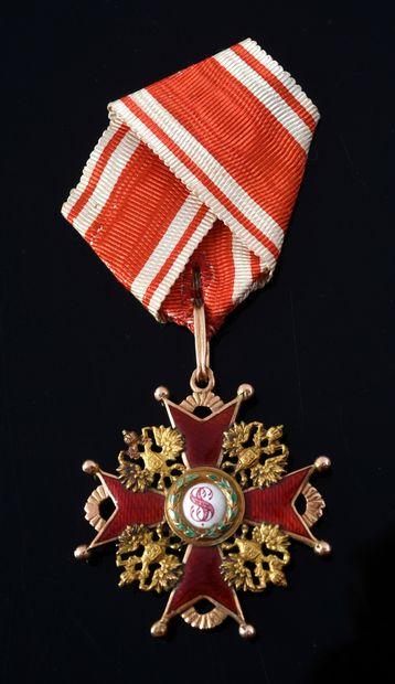 ORDRE DE SAINT-STANISLAS (Russie). Croix...