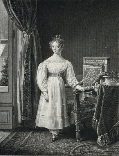 École française du XIXe siècle. Portrait de la princesse Louise d'Artois, future...
