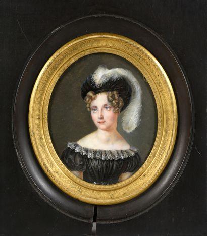 ÉCOLE FRANÇAISE DU DÉBUT DU XIXe SIÈCLE, ATTRIBUÉE À JEAN-FRANÇOIS HOLLIER (1772-1845)....