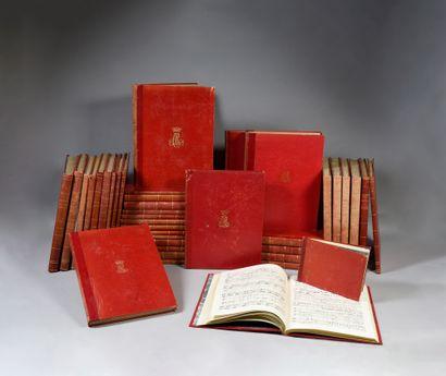 BIBLIOTHÈQUE MUSICALE DE LA DUCHESSE DE BERRY. Ensemble de 32 grands volumes, in-folio...