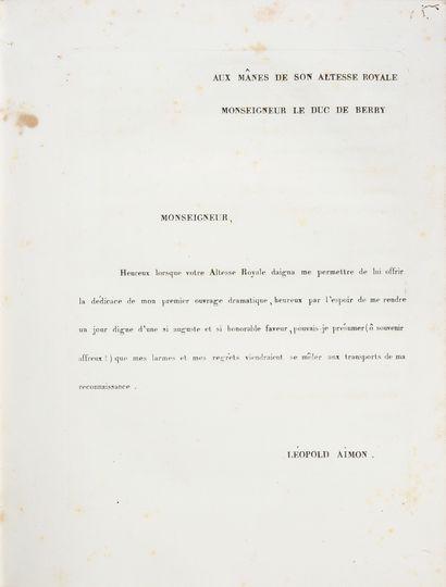 AIMON Léopold. Les Jeux floraux, opéra en trois actes, paroles de Mr Bouilly, musique...