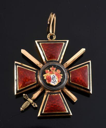 ORDRE DE SAINT-WLADIMIR (Russie). Croix de...