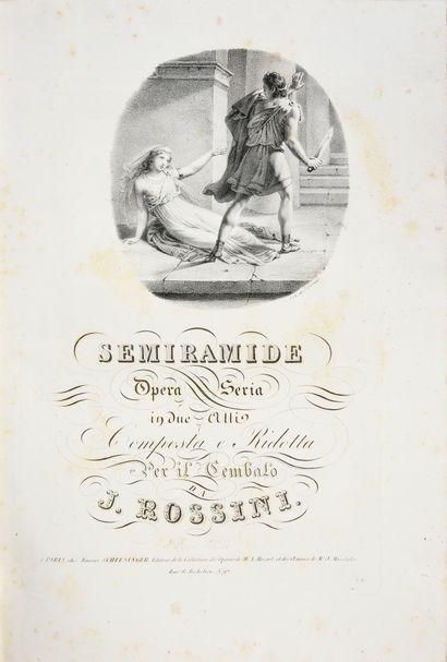 ROSSINI Gioachino. Zelmira, opéra en 2 actes, imprimé à Paris, chez Maurice Schlesinger,...