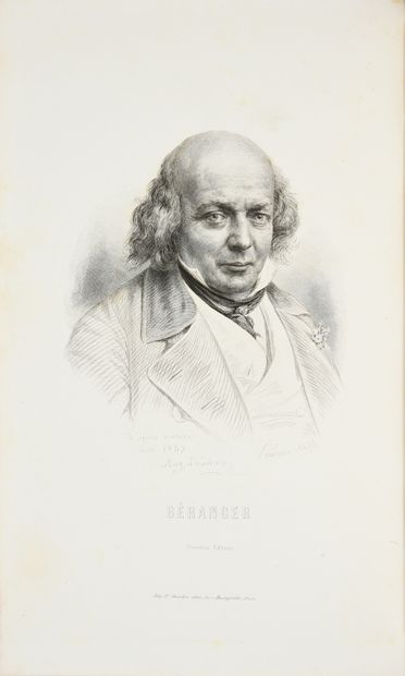 BÉRANGER Pierre-Jean de. * Chansons, imprimé à Paris, chez Perrotin, Libraire-Éditeur,...