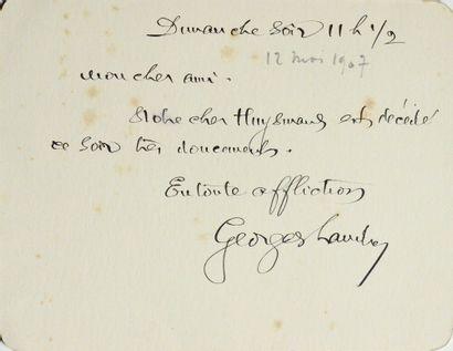 LANDRY, Georges. C.A.S., adressée à [Gabriel Thyébaut].