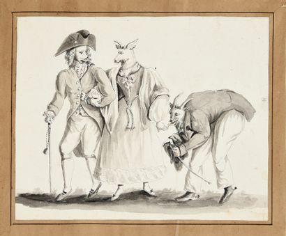 [Album de dessins] «Griffonnage», vers 1830....