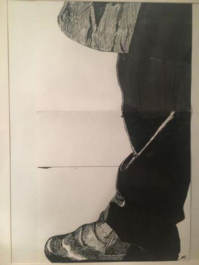 Appuis Encre de Chine sur papier 70 cm x...