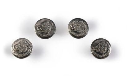 Lot de 4 boutons de tenue du rallye Marchenoir,...