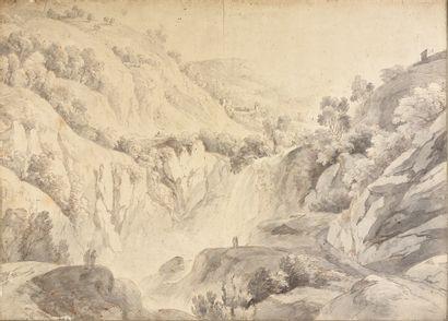 Ecole française de la fin du XVIIIe siècle, dans le goût d'Hubert Robert