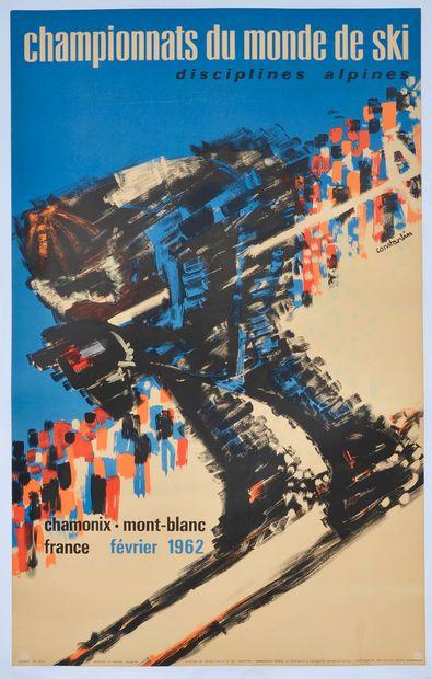 Affiche des Championnats du Monde de ski...