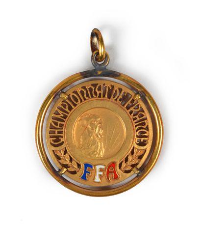 Médaille de Champion de France 1965 d'Alain...