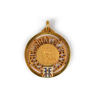 Médaille de Champion de France 1950 d'Alain...