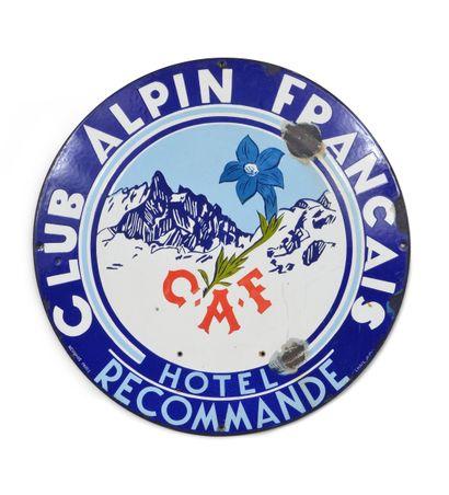 Exceptionnelle plaque émaillée du Club Alpin...