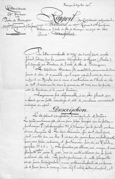 Rapport du Capitaine Bernard du 159ème Régiment...