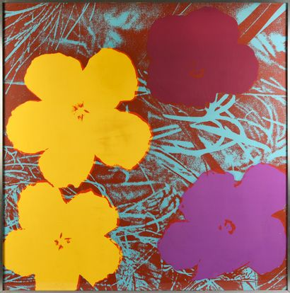 ANDY WARHOL (1928 - 1987) Flowers. Modèle créé en 1964. Suite de 4 Sérigraphies,...