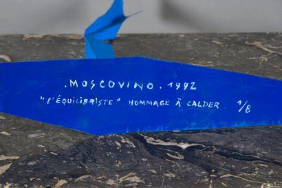 Jean Paul MOSCOVINO (né en 1947) L'équilibriste. Hommage à Calder. Mobile en tôle...