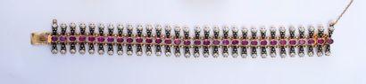 Délicat bracelet ruban en or 585e, à maillons...