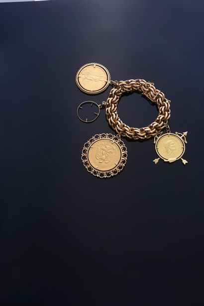 Bracelet gourmette à maille américaine en...