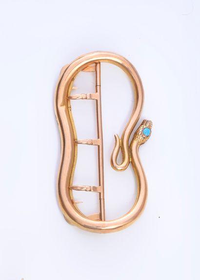 Boucle de ceinture en or 750e, en forme de...