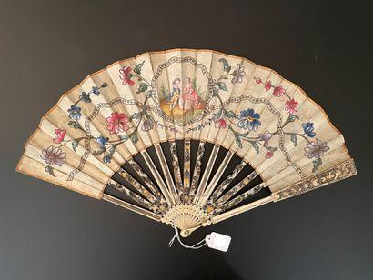 L'échange amoureux, vers 1770-1780  Éventail...