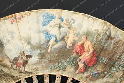 LE SOMMEIL D'ENDYMION, VERS 1770-1780.  Eventail...