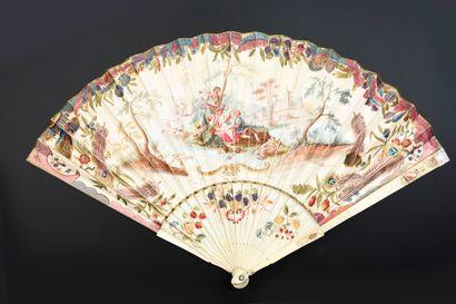 L'union champêtre, vers 1730-1740 Eventail...
