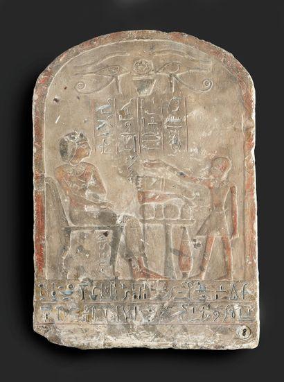[La Stèle de Sa-Pa-Ïr, Egypte, Abydos, XVIIIe...